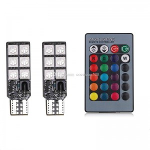 Bombillo T10 5050 12SMD RGB Canbus