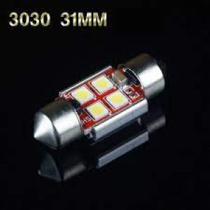 Bombilla led Festoon 3030 4SMD Canbus 31MM