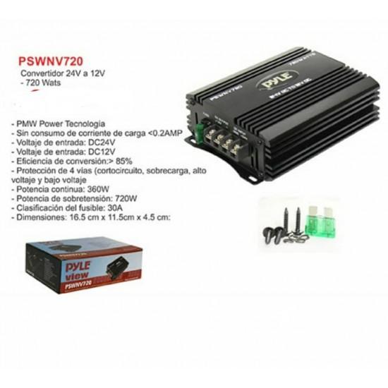 CONVERTIDOR 24V a 12V  720 Watts