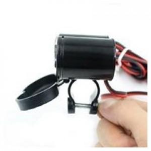 Cargador de telefono para moto, USB y cigarrera