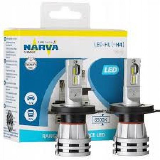 Lámparas Led HL Narva H4 6500k Pack x2