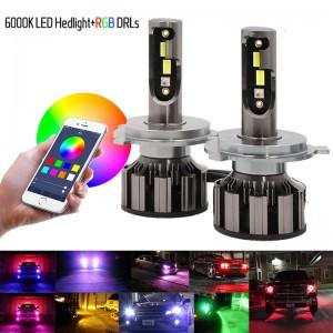 RGB Led Headlight H4