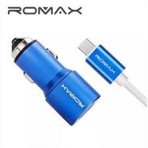 Cargador para auto ROMAX 2 USB, 3.8A